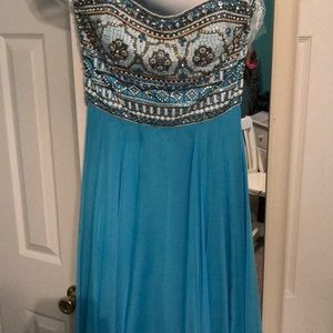 Blue and Beaded Sherri Hill Gown